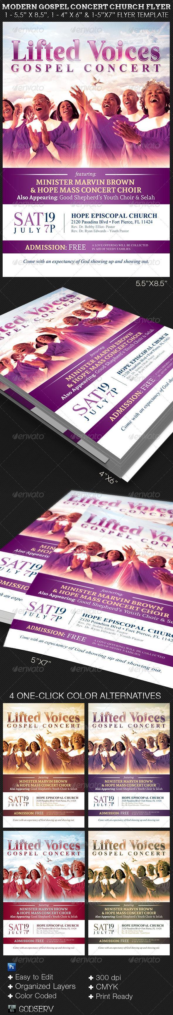 Gospel Concert Church Flyer Template