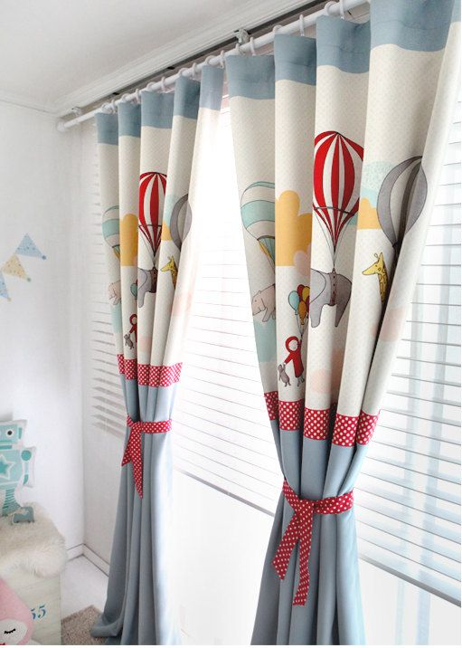 Blue Adballoon Kids Blackout Curtains