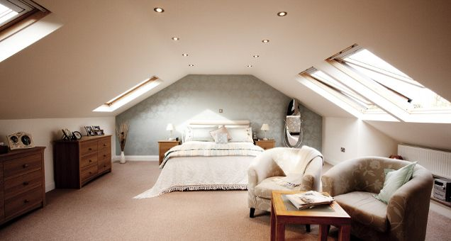 Spare Bedroom Tetőtér Pinterest Lofts Bedrooms And Attic - Loft conversion bedroom ideas
