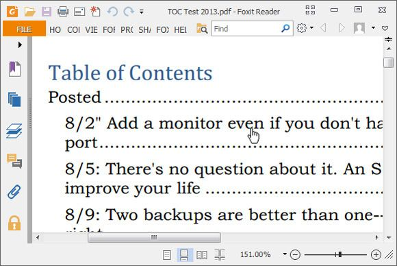 You can create a table of contents in Microsoft Word where every