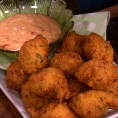 Paula Deen S Jalapeno Hush Puppies Recipe Recipe Food Network Recipes Trisha Yearwood Recipes Hush Puppies Recipe