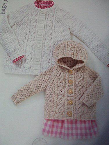 Sirdar Hayfield Baby Aran Knitting Pattern 4504 Cardigans Age