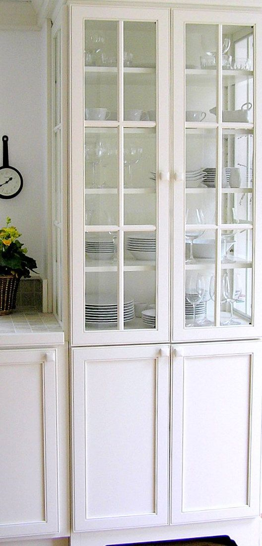 3 Side Glass China Cabinet In Kitchen Kitchen Display