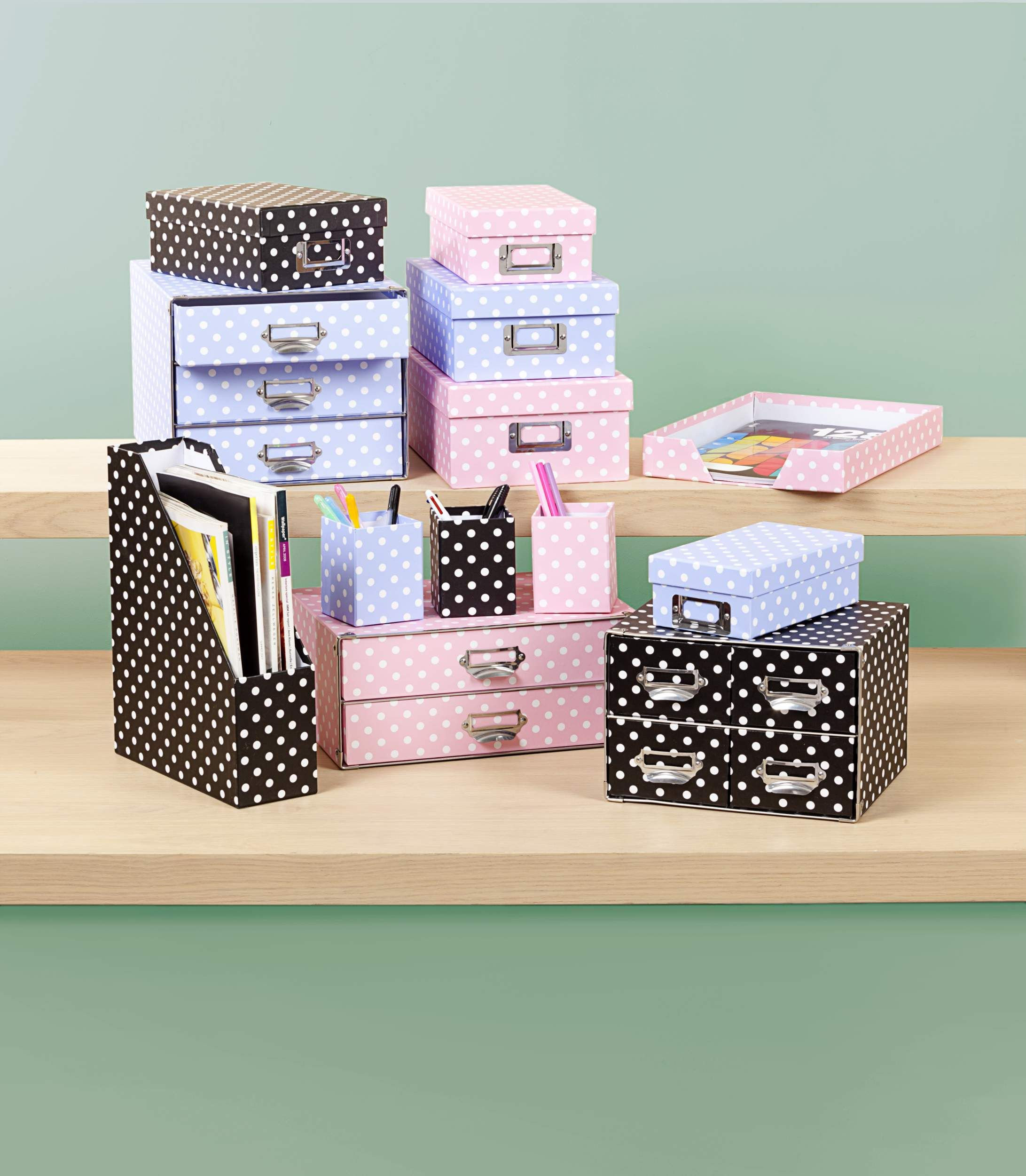 Polka Dot Desk Accessories From The Reject Prices 2 12 Pink