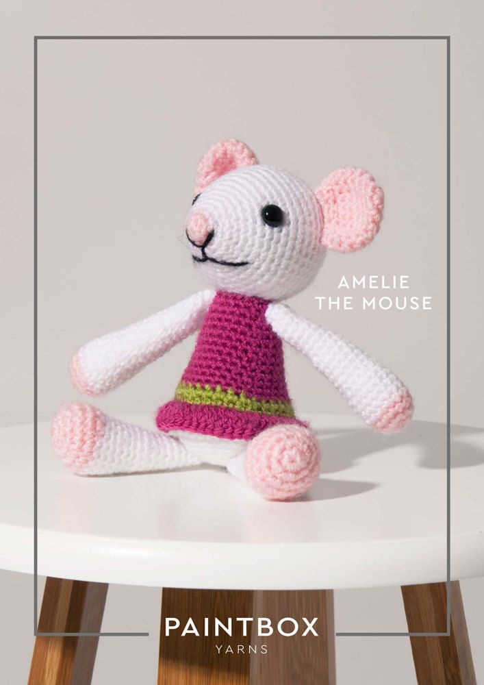 Amelie The Mouse In Paintbox Yarns Simply Dk Dk Cro Toy 007