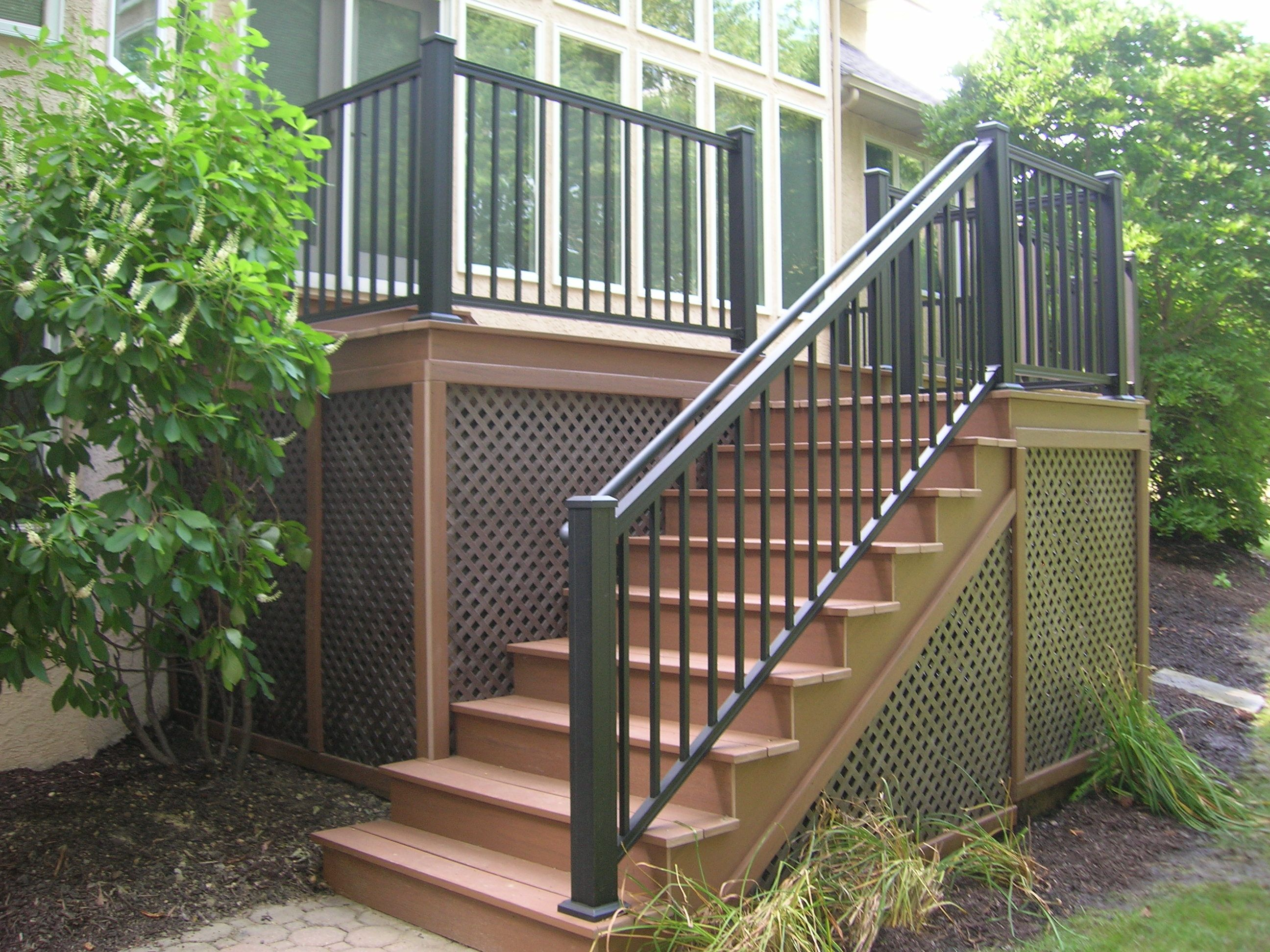 Palisade Railing Outdoor Stair Railing Railings Outdoor   Vinyl Stair Railing Lowes   Porch   Baluster   Concrete   Wrought Iron   Wood