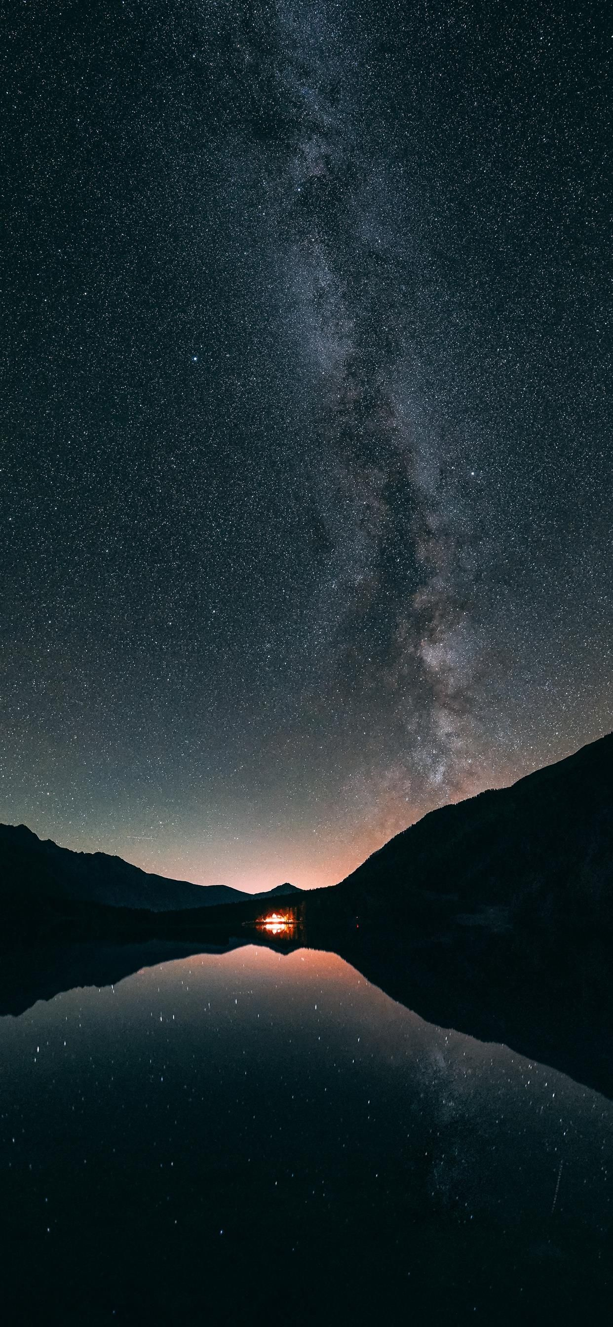 Milky way Antholz lake iPhone 11 Wallpapers Free Download