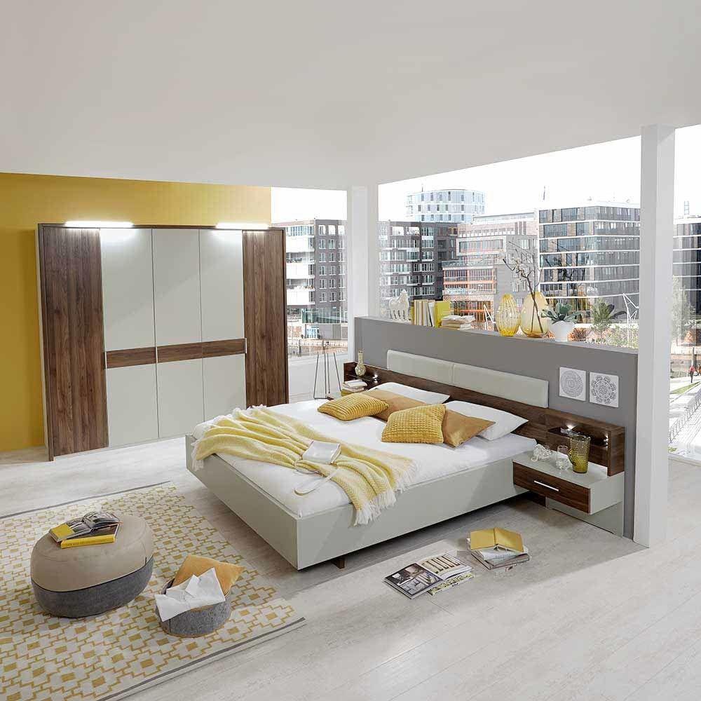 Schlafzimmerset in Creme Walnuss modern (4-teilig) Jetzt bestellen ...