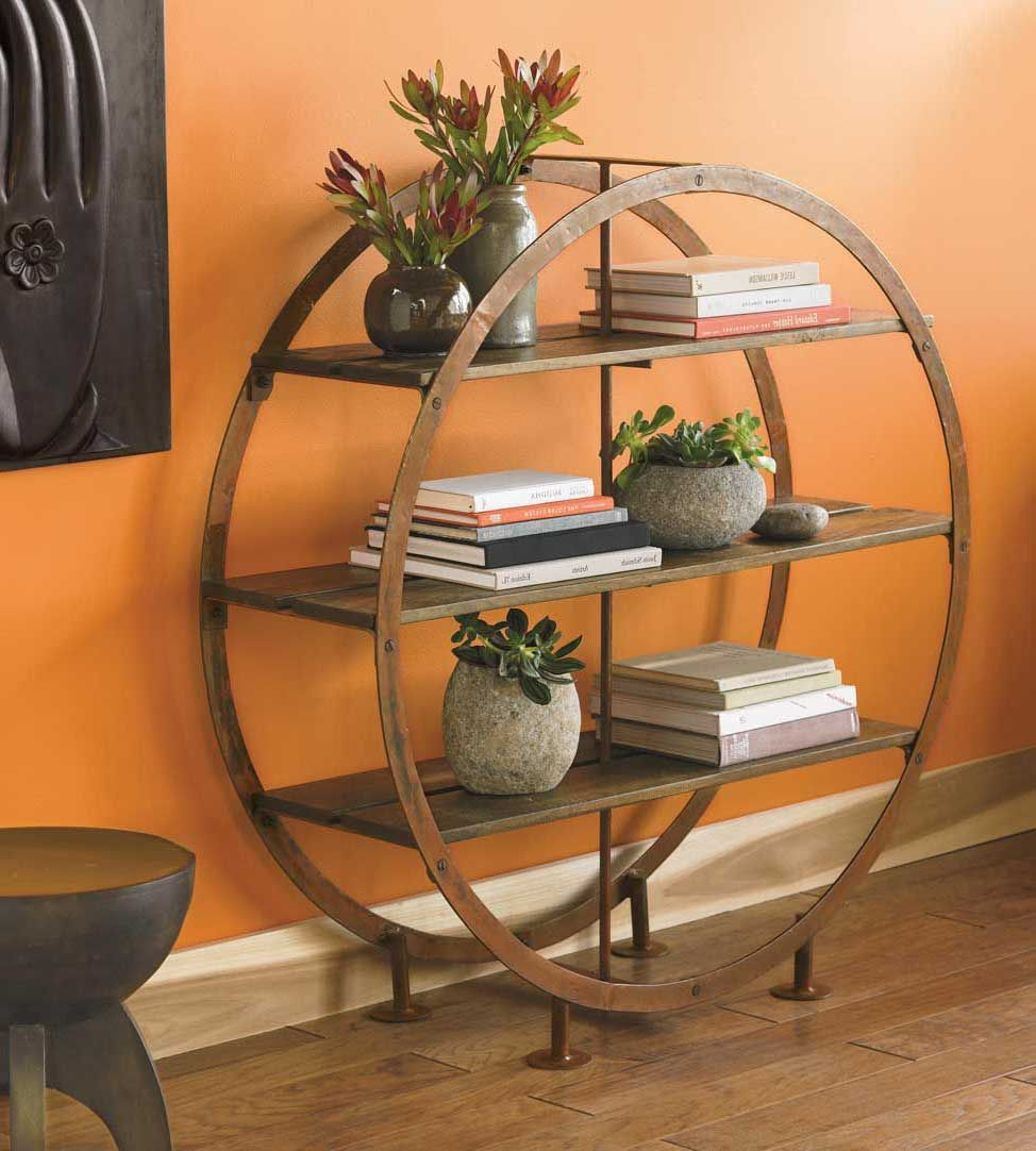 Circular Standing Shelves Cool Shelves Furniture Circle Shelf