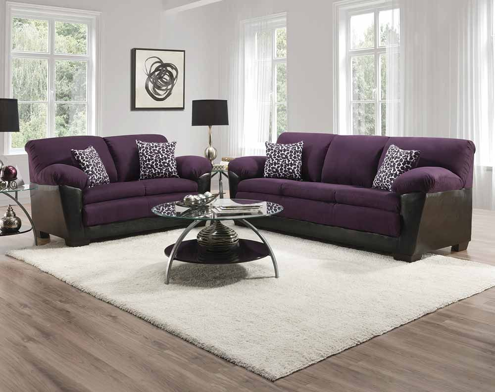 Sierra Purple Sofa Loveseat Collection American Freight Formerly Sears Outlet In 2020 Purple Living Room Purple Sofa Living Room Sets Furniture #sears #living #room #furniture
