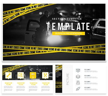 criminal activities police powerpoint template powerpoint