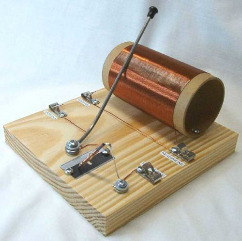 Cornell Ww Ii Foxhole Razor Blade Crystal Radio Kit Includes Earphone Radio Kit Radio Ham Radio