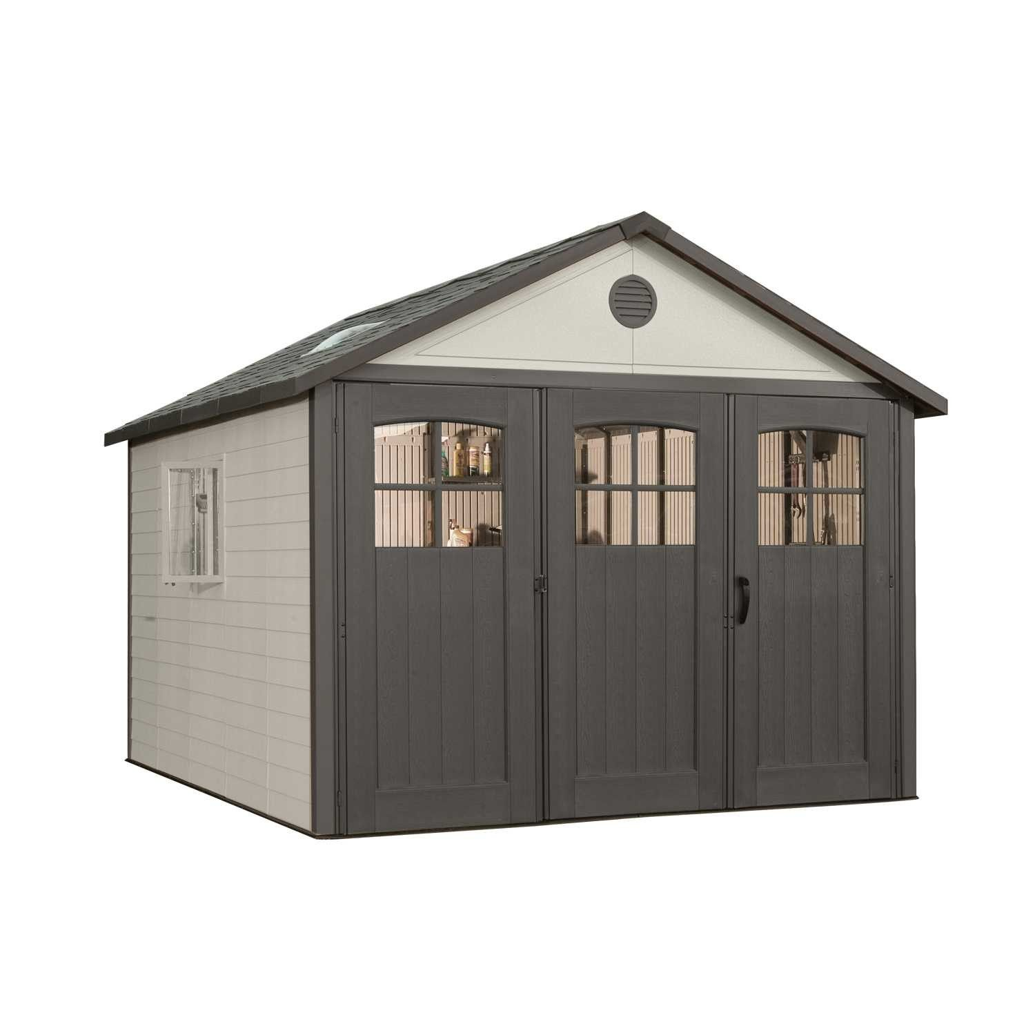 11 ft W x 11 ft D Plastic Storage Shed