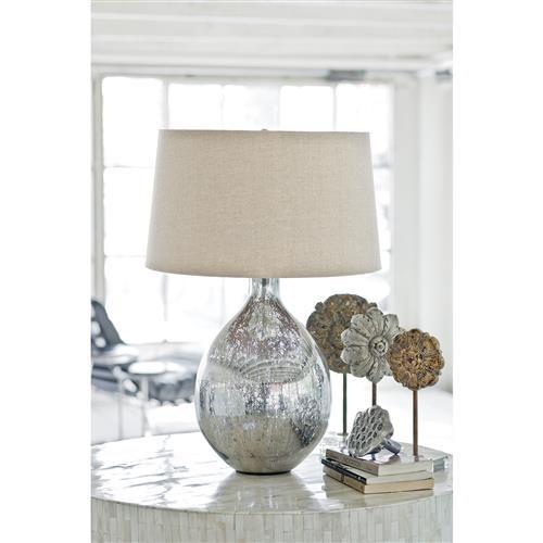 Coastal Modern Antique Mercury Glass Wine Lamp In 2021 Mercury Glass Lamp Table Lamp Shades Glass Lamp