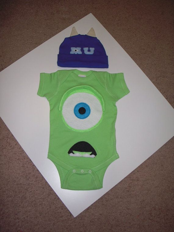 MIKE WAZOWSKI Onesie   Hat Set Inspired by by PoppityPop on Etsy ... f194c6b2b832