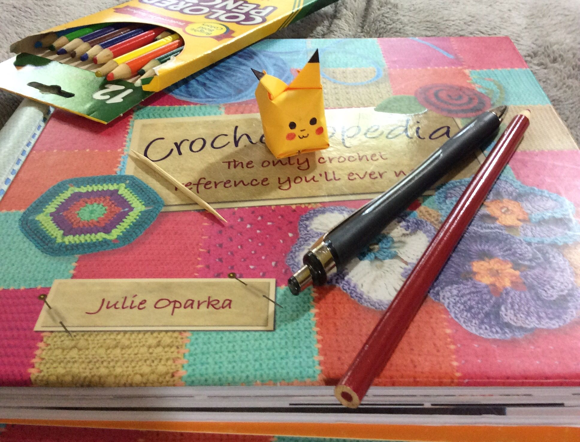 Photo of Origami pikachu… Check your my craft board for instructions, simple for beginn…