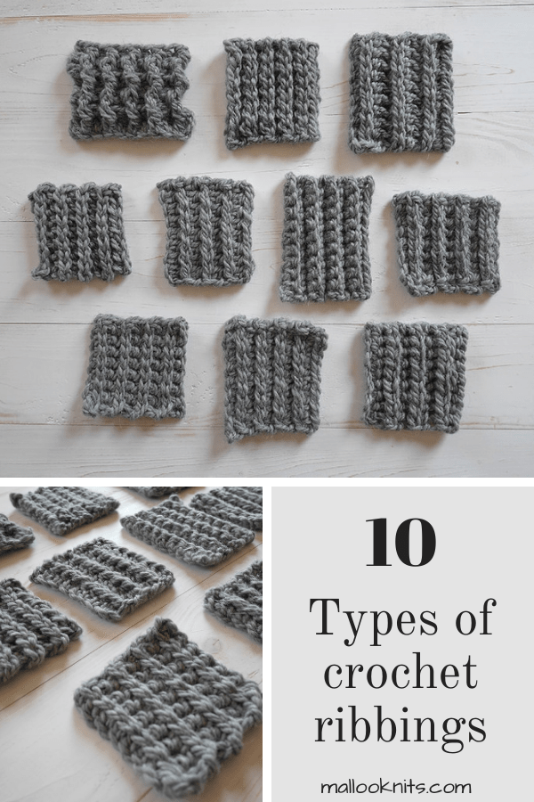 How to crochet ribbing tutorial - mallooknits.com Crochet tutorials