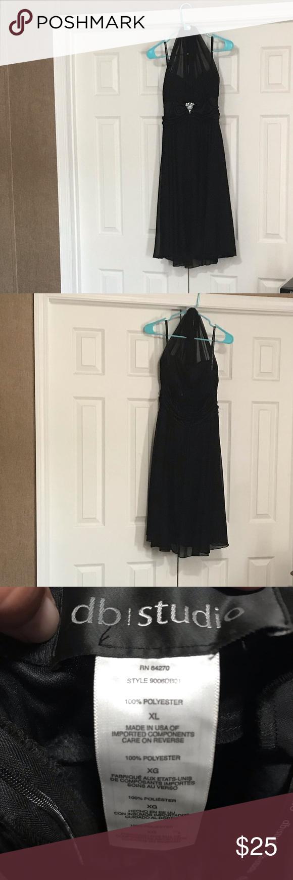 David S Bridal Black Dress Size Xl Dresses Black Dress Black Sleeveless Dress [ 1740 x 580 Pixel ]
