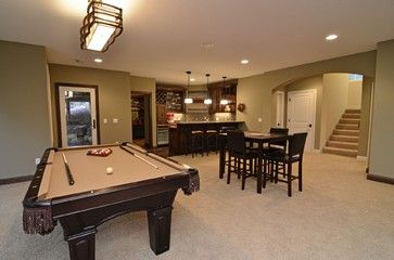 Lower Level Entertainment Area traditional family room