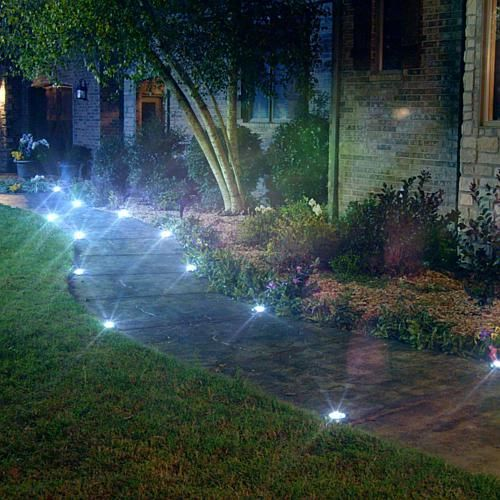 As Seen On Tv Bell Howell Disk Lights Deluxe Solar 10 Pack Stainlessmltcolor