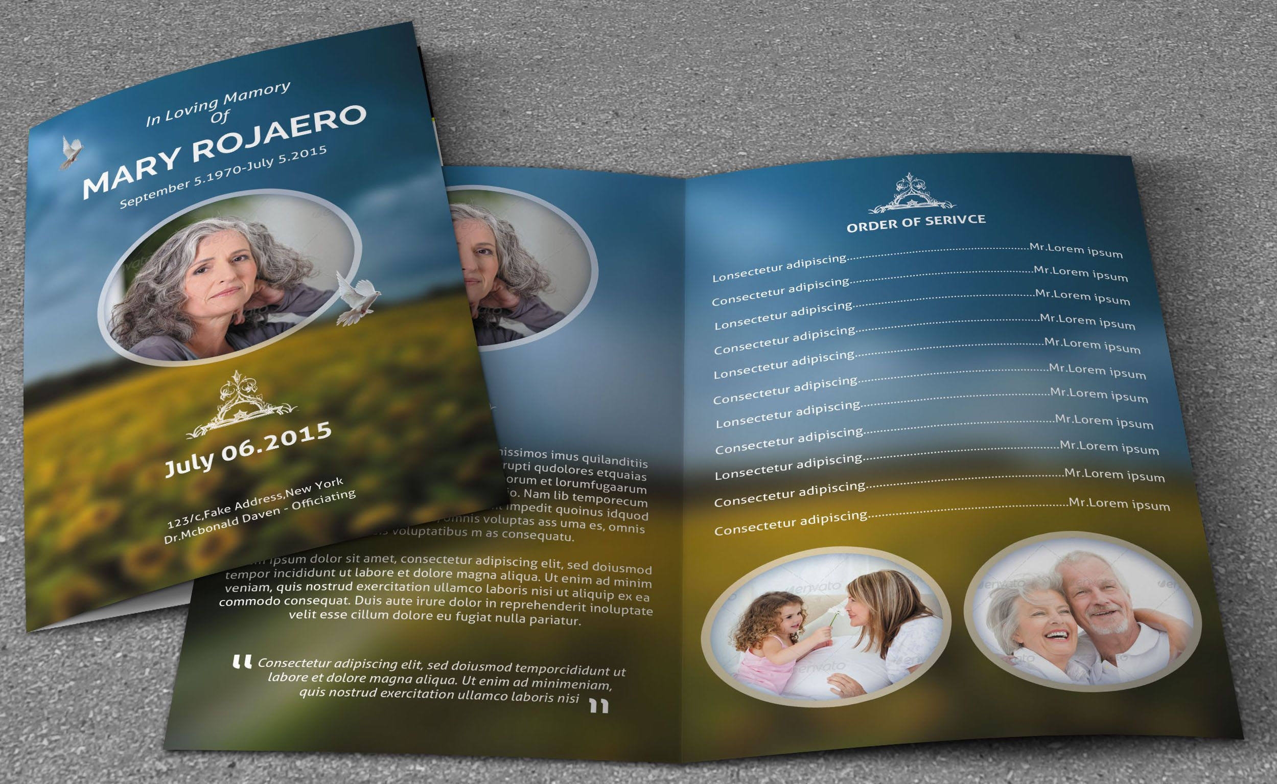Elegance Funeral ProgramV  Funeral Programming And Template
