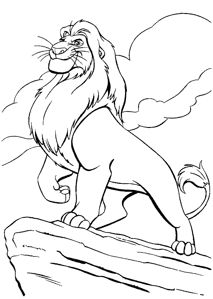 Lion King Coloring Pages Free Printable Download Drawing and