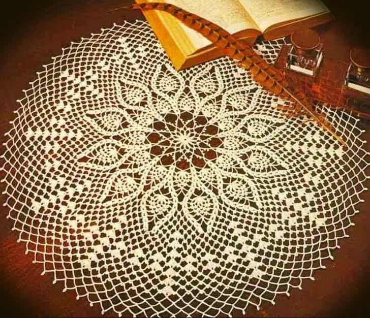 crochet-doily-patterns+50cm+LD10+(1).jpg (728×626) | Coisas para ...