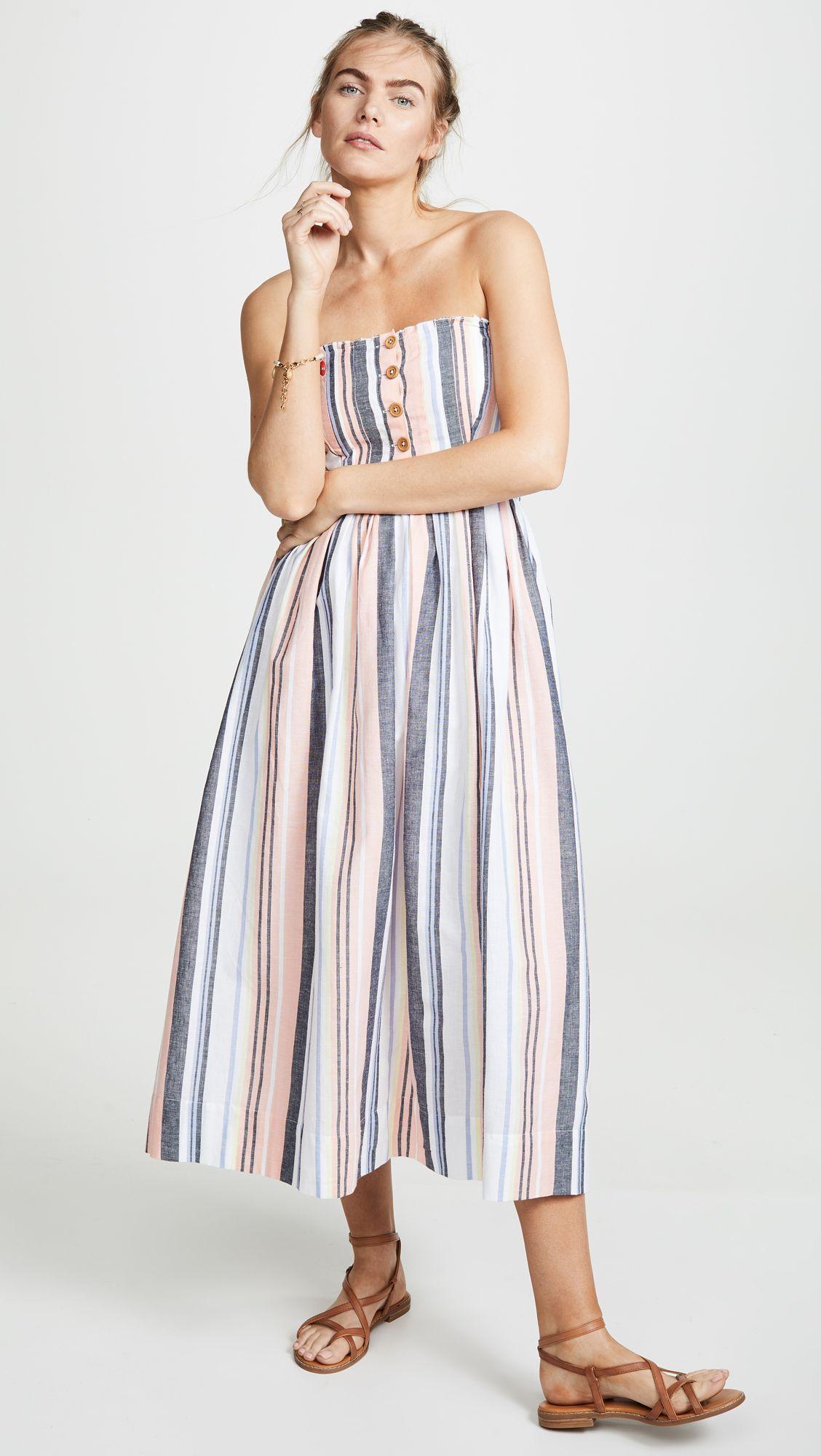 Free People Lilah Pleated Tube Dress Tube Dress Dresses Simple Summer Dresses [ 2000 x 1128 Pixel ]