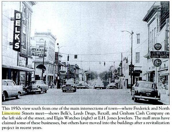 Downtown Gaffney 1950s Gaffney South Carolina South Carolina