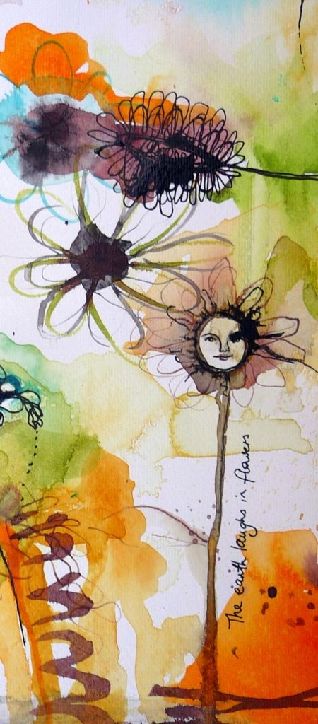 The Earth Laughs in Flowers by Tracy Verdugo. SOLD. http://artoftracyverdugo.blogspot.com