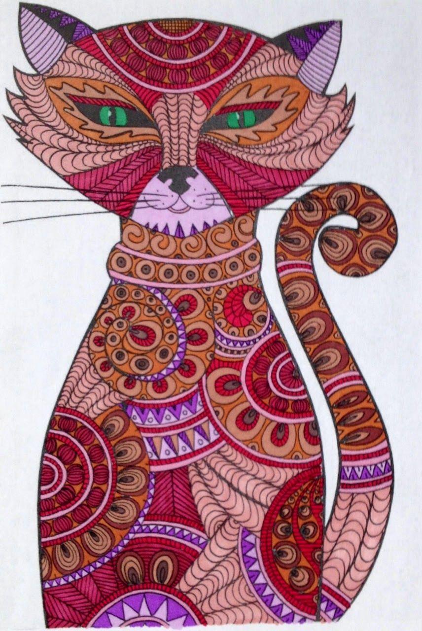 le blabla demeralda art thrapie coloriage chat 1 plus