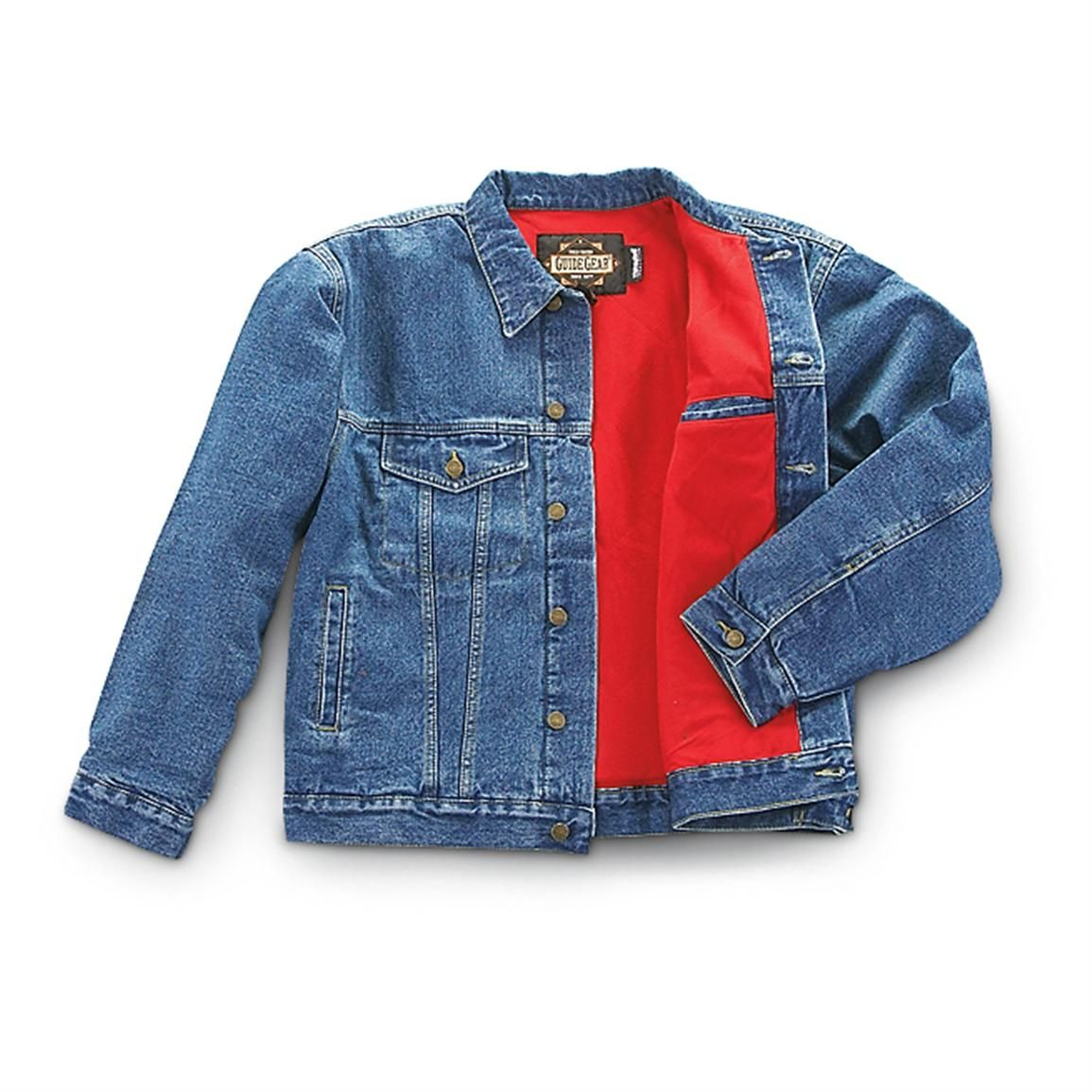 Guide Gear 100 Gram Thinsulate Insulation Lined Denim Jacket Stonewash Lined Denim Jacket Denim Jacket Jackets [ 1155 x 1155 Pixel ]