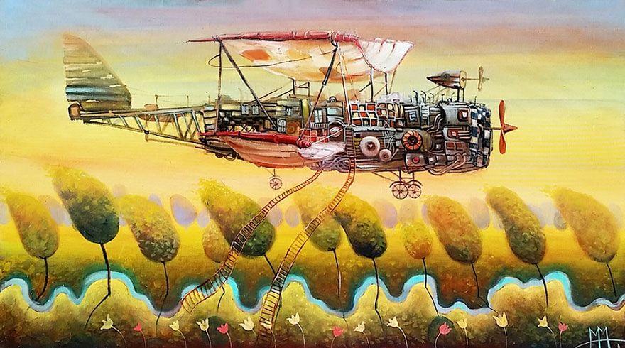 Peintures à lhuile de véhicules dun autre monde par Modestas Malinauskas  2Tout2Rien