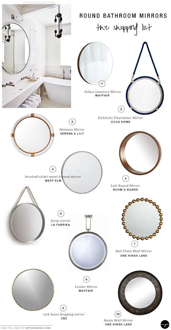 10 Best Round Bathroom Mirrors Round Mirror Bathroom Bathroom