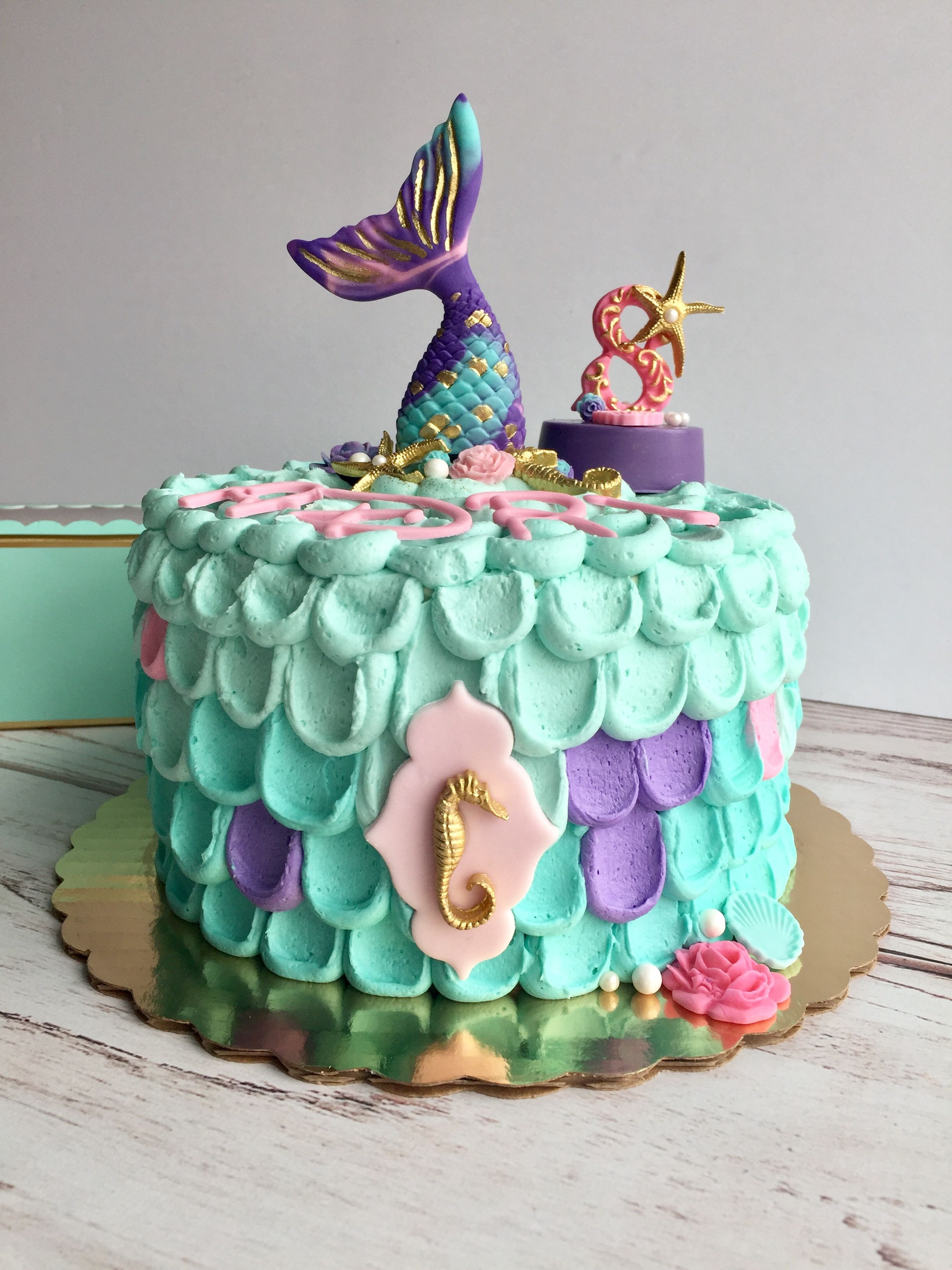 Awe Inspiring Mermaid Cake For 8 Year Old 9 Year Old Girl Birthday 3 Year Old Funny Birthday Cards Online Alyptdamsfinfo