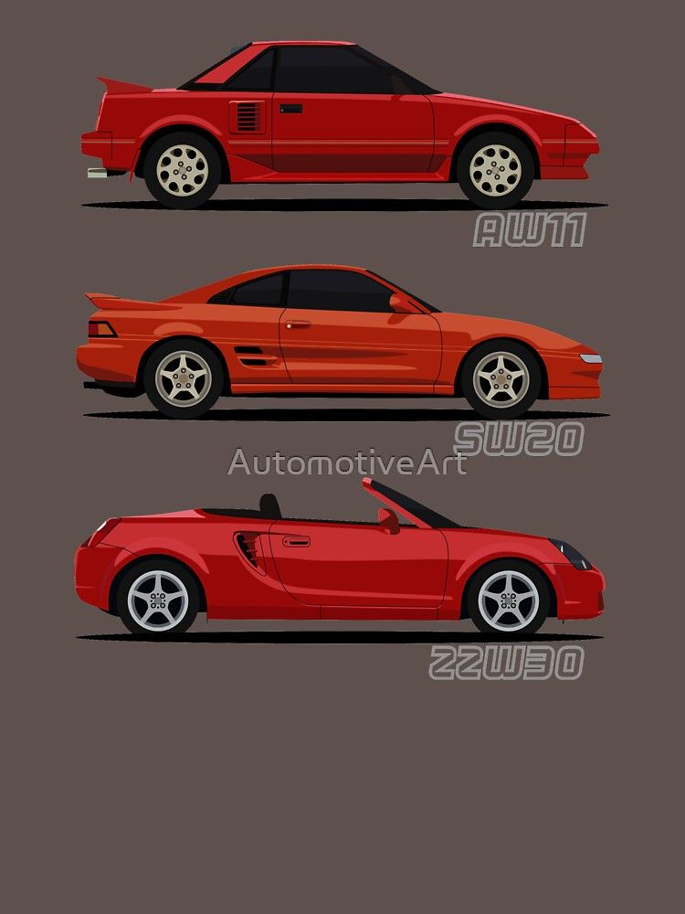 Mr2 Generations Essential T Shirt By Automotiveart In 2020 Toyota Mr2 Toyota Cars Autocross Cars