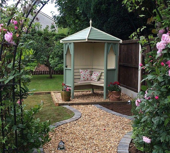 Shire Honeysuckle Corner Arbour Pressure Treated Small Garden Gazebo Garden Seating Garden Buildings
