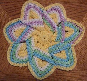 Crochet~ Flower Hot Pad- Free Pattern