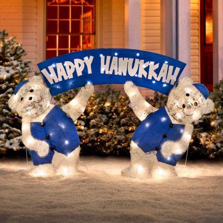Lighted Happy Hanukkah Bears Hanukkah Chanukkah