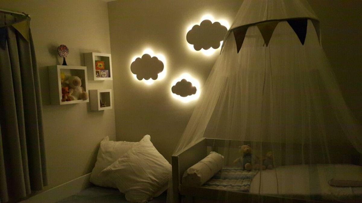 Nuvem Luz Led Luminaria Bebe Abajur Quarto De Beb Promo O  ~ Decoração De Quarto Com Luzes E Quarto Simples Para Bebe