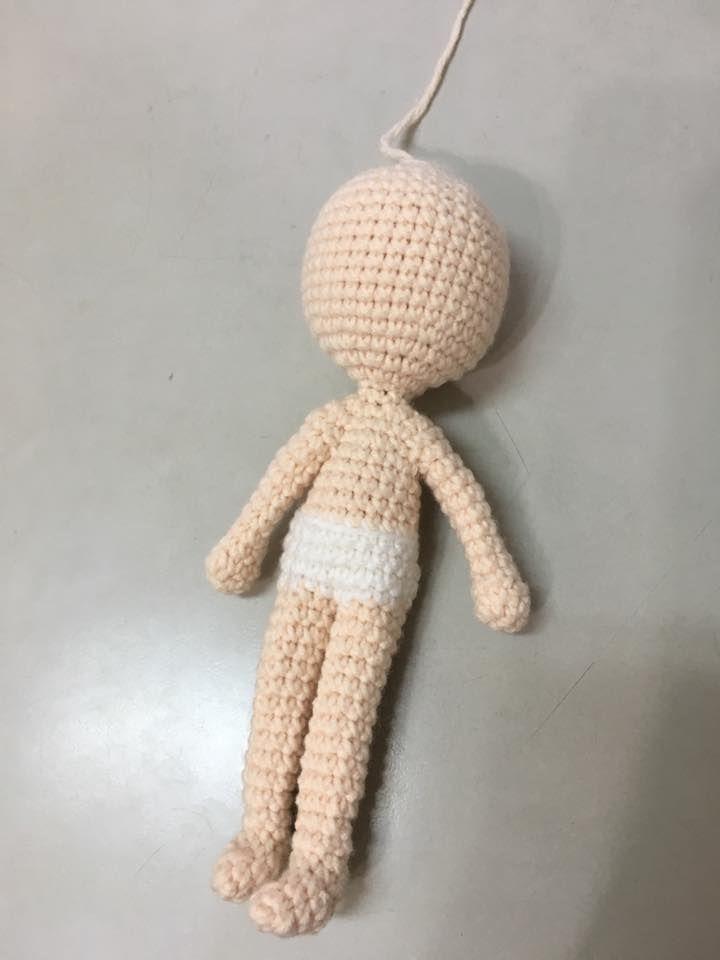 cuerpo-muñeca | Amigurumi háčkování | Pinterest | Cuerpo, Muñecas y ...