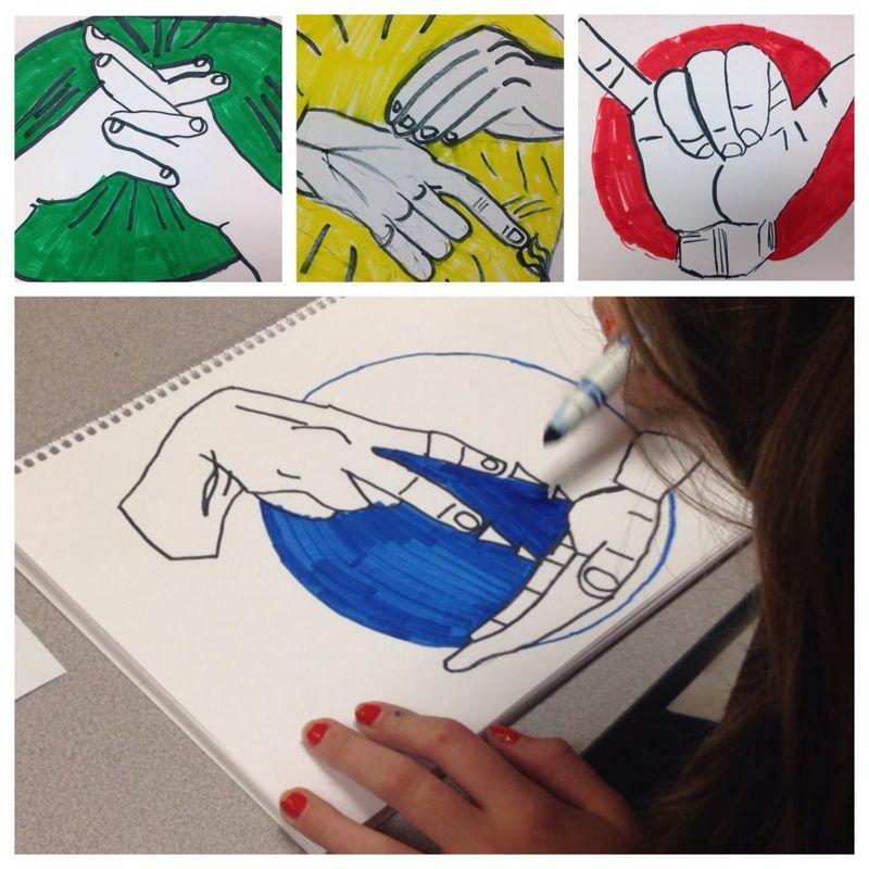 Hands Across the Curriculum Art class, Arts ed, Art projects