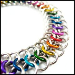 Beautiful Chain Maille Necklace  - #chainmaille  Chainmaille Jewelry: Some examples of chainmaille jewelry:
