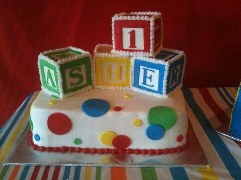Building Blocks cake Block birthday party, Block