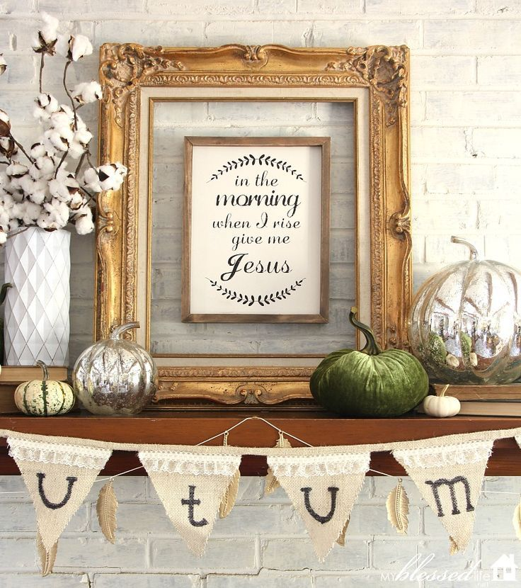 Fall Mantel 2016 | http://MyBlessedLife.net