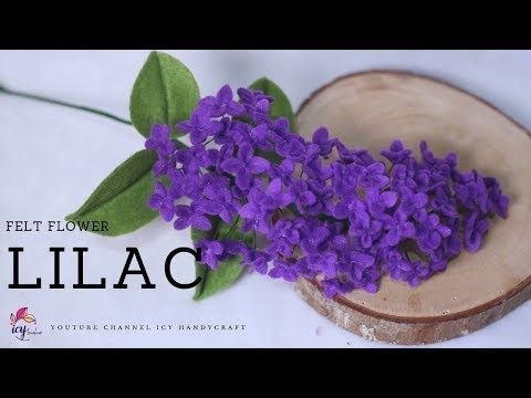 CARA MEMBUAT BUNGA FLANEL LILAC | HOW TO MAKE FELT FLOWER LILAC