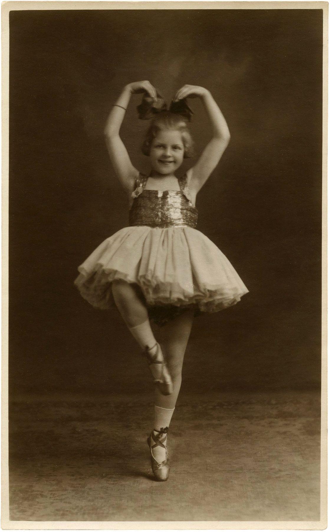 Vintage Kids Books My Kid Loves Koko S Kitten: Free Vintage Clip Art - Ballerina