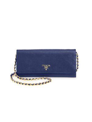ab27cc213976 PRADA Saffiano Metal Oro Chain Wallet.  prada  wallet