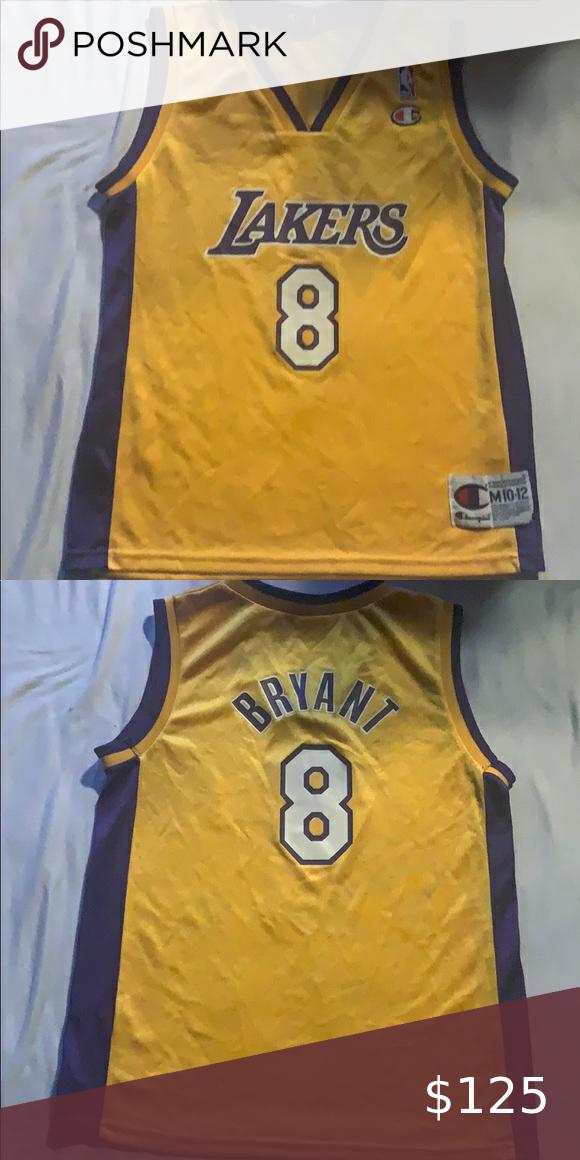 Lakers Kobe Bryant Jersey Champion M 10-12 Youth | Kobe bryant ...