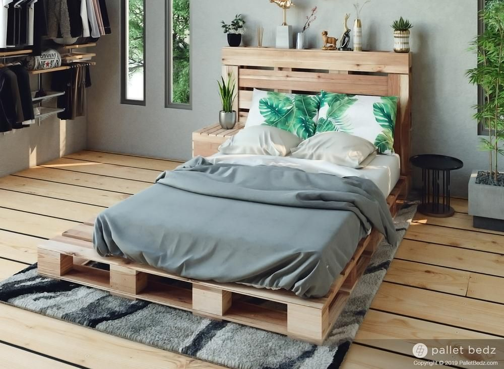 The Twin Pallet Bed In 2020 Wood Pallet Bed Frame Diy Pallet